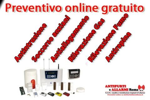 Antifurto senza fili wireless e filare via cavo Roma vendita installazione assistenza preventivo on line gratuito