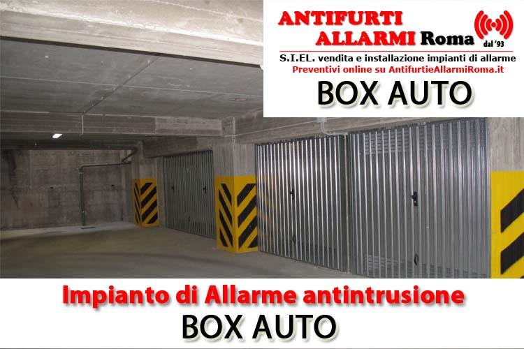 Impianto di allarme antifurto box auto roma antifurti e for Garage prefabbricato con costo dell appartamento