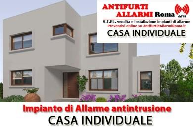 IMPIANTO DI ALLARME ANTIFURTO CASA INDIVIDUALE ROMA