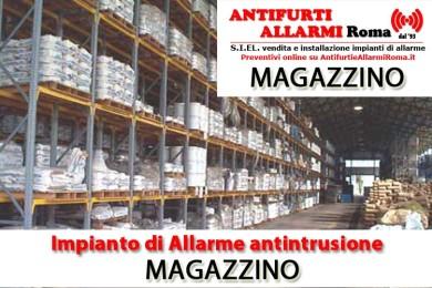 IMPIANTO DI ALLARME ANTIFURTO MAGAZZINO ROMA