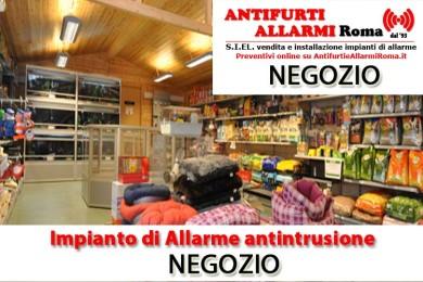 IMPIANTO DI ALLARME ANTIFURTO NEGOZIO ROMA
