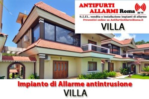 Impianto Antifurto Allarme Villa Roma