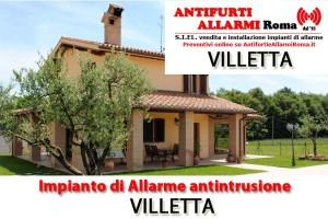Impianto Antifurto Allarme Villetta Roma