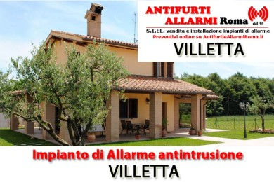 IMPIANTO DI ALLARME ANTIFURTO VILLETTA ROMA