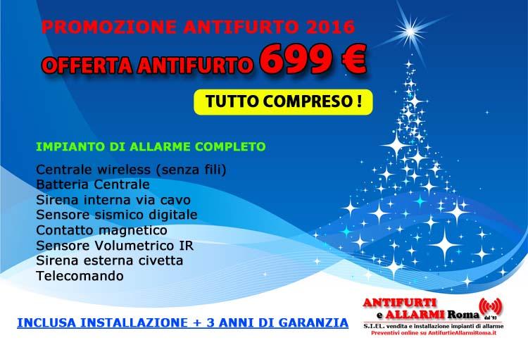 Offerta Antifurto 2019. Promozione installazione impianto di allarme antifurto Roma