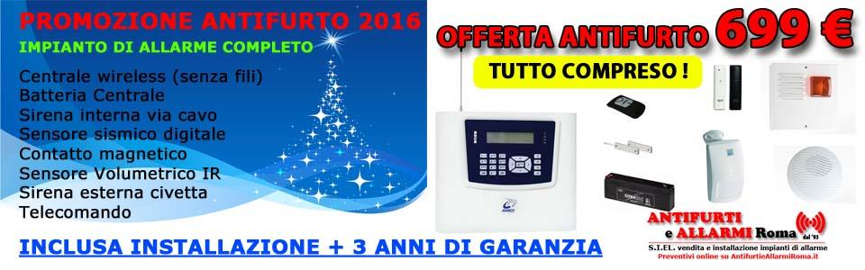 Offerta installazione impianti allarme antifurto roma - Promozione 2018