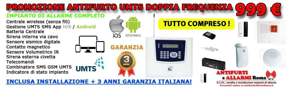 Antifurto completo umts 999 sms app ios e android - Installazione allarme casa ...