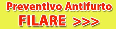 preventivo allarme antifurto filare via cavo via filo roma