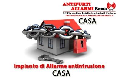 IMPIANTO DI ALLARME ANTIFURTO CASA ROMA