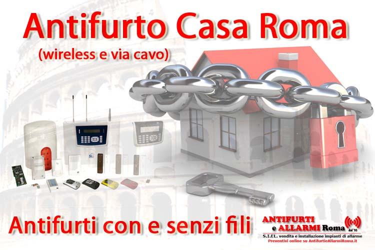 antifurto casa roma senza fili wireless filare via cavo