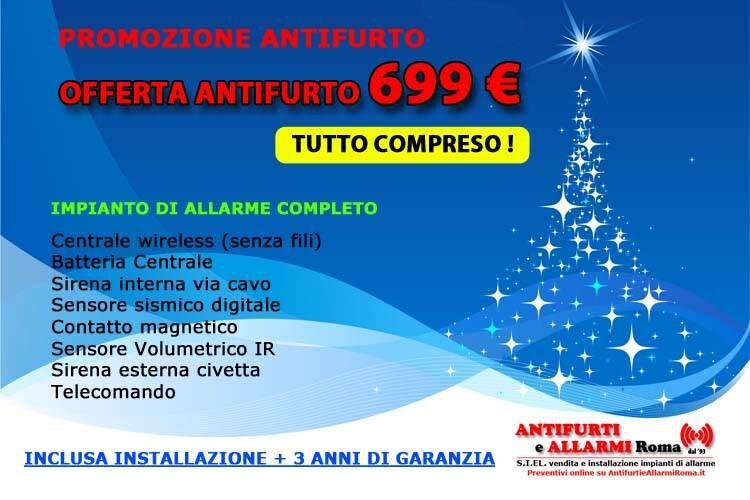 Offerta Antifurto 2021. Promozione installazione impianto di allarme antifurto Roma