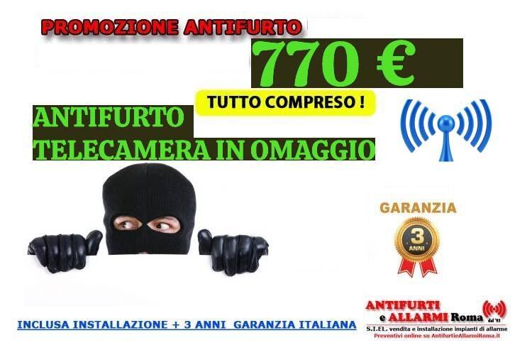 Offerta Antifurto wireless 2021. Promozione installazione impianto di allarme antifurto Roma